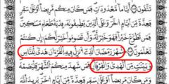 بحث عن تفسير شهر رمضان الذي